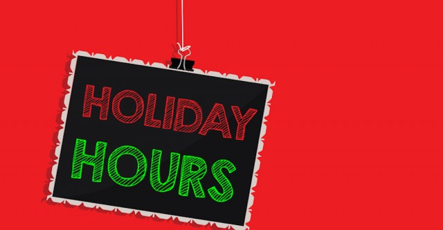 Holiday Hours For Service, Parts Centers