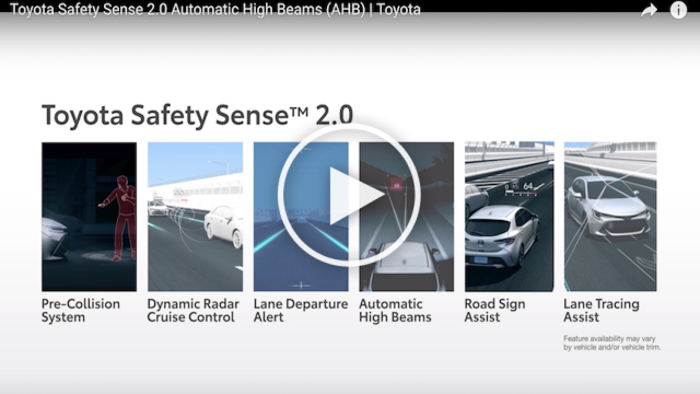 Automatic High Beams (Toyota Safety Sense 2.0)